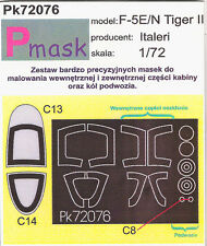F-5 E/N TIGER II PAINTING MASK TO ITALERI KIT #72076 1/72 PMASK
