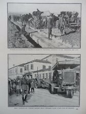 1916 GREECE SALONIKA HOLT CATERPILLAR TRACTOR HAULING GUN ROYAL ENGINEER WWI WW1
