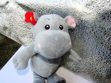 "KINDER SURPRISE  HIPPO  Hippopotamus  9"" Doll  Plush Advertising Chocolate  EUC"