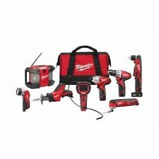 NEW MILWAUKEE 2495-28 M12 12 VOLT DELUXE 8 PC TOOL CORDLESS TOOL COMBO SET