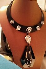 ♡BNWT Mimco Black chain 2 IN 1 Choker Necklace Collar R.R.P $ 199.00 + Dust bag