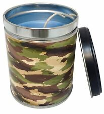 Summer Night Scented 13 oz Tin Candle w/ Camo Label by Our Own Candle Company