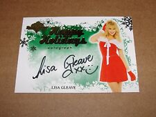 2012 Benchwarmer LISA GLEAVE Happy Holidays Gold Auto SP Deal or No Deal PLAYBOY