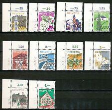 Zwitserland 1003 - 1012 gebruikt met drukdatum (?) in de marge