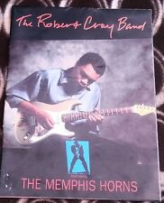 ROBERT CRAY / MEMPHIS HORNS 1991 Tour Programme Book folds out to 32x24 inches