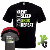 Eat Sleep Xbox T-Shirt Gamer Fathers Day Christmas Birthday Gift Top Dad For Him