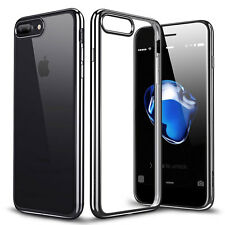 Thin Shockproof Plating Clear Glossy TPU Silicone Case Cover for iPhone 6 7/Plus