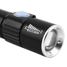 2000LM  Q5 LED Tactical Rechargeable USB Flashlight Torch Zoom Adjustable FT