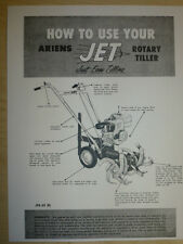 ARIENS HOW TO USE YOUR JET ROTARY TILLER PARTS LIST MANUAL JPB 60