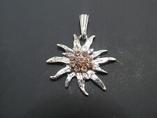 "EDELWEISS NECKLACE WITH 16""  AND 18"" STERLING SILVER CHAINS"
