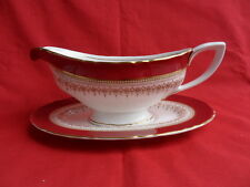 Royal worcester, regency rubis/rouge, sauce cruche & stand