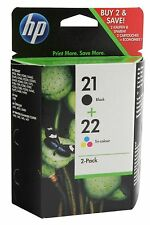 HP ORIGINAL 21 AND 22 COMBO PACK INK CARTRIDGES Black Colour SD367AE J3680 F4180