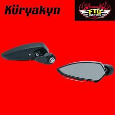 Kuryakyn Black Fairing Mounted Scythe Mirrors '06-'13 Touring 1817