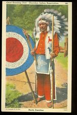 North Carolina, Cherokee Indian Reservation, Chief Standing Deer (indiansA43