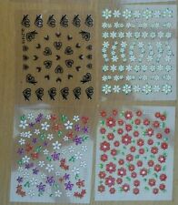 6 x sheets 3D nail art sticker stickers sleepover girls pamper party bag fillers