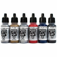 Vallejo Airbrush Farben Set 6x 17ml *Metallic Airbrushfarben Acrylfarben