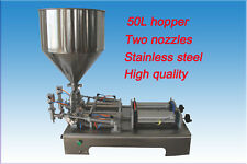100-1000ml two outlets liquid paste chilly sauce filling machine,piston filler