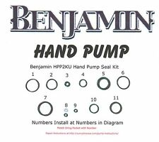 Benjamin Crosman PCP HPA Hand Pump O-ring Seal Kit ( PTFE O-ring Update)