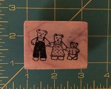 Vtg PSX 1983-87 PersonalStampExchange Wood Mounted Rubber Stamps Three Bears
