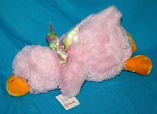 "Fiesta Plush Pink Orange PLATYPUS 14"" Soft Toy Stuffed Duck Easter Egg Bow 8023A"