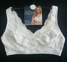 M&S WOMAN MODAL BLEND NON WIRED FULL CUP SLEEP BRA BNWT WINTER WHITE SIZE 34DD/E