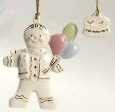 Lenox Gingerbread Gala 10th Anniversary Ornament 4 1/8 in 24 Kt gold accents