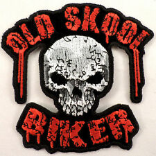 Skull Old Skool School Biker Motorcycle Uniform Patch