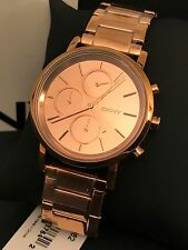 DKNY NY8862 Lexington Mirror Rose-Gold Tone Women's Chronograph Watch NWT