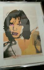 ANDY WARHOL RARE MICK JAGGER LIMITED EDITION  NEUES PUBLISHING  AWAY FOUNDATION