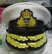 ROYAL NAVY ADMIRAL OFFICER WHITE HAT CAP NEW Size 57, 58, 59, 60, 61, 62 Sizes