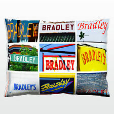 Personalized Pillow featuring the name BRADLEY in sign photos