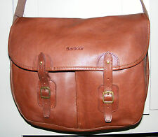 BARBOUR TARRAS BAG ALL LEATHER MESSENGER ACROSS BODY USED ONCE