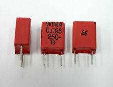 12x  WIMA MKP2  0.068uF 250V, 683K; NEW, Not-NOS Poly Capacitors, USA Seller