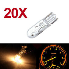 20pcs 12V 2W T5 286 Auto Car Instrument Lights Amber Miniature Bulb Indicator