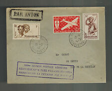 1947 Madagascar to Reunion First Flight Cover FFC Air France