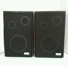(2) Vintage Zenith Allegro 2000 Box Speakers, Wood Grain Finish, Tested