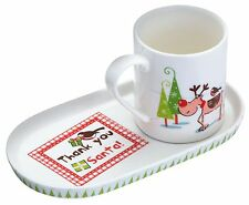 Kitchen Craft Santa & Friends Mug and Cookie Tray Set - KCSFMUGSET