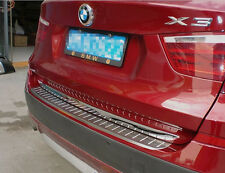 Stainless Steel Rear Bumper Sill Protector For BMW X3 F25 2011 2012 2013 New