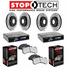 A3 Golf GTI Front & Rear Drilled and Slotted Brake Discs Sport Pads KIT StopTech