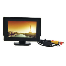 "4.3""inch Color Car LCD Monitor with Sun Shade Support Rear View Camera/DVD/VCD"