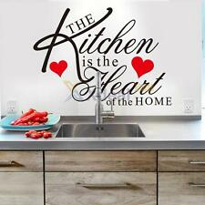 Kitchen Home Decor Wall Sticker Mural Removable Decals Heart English Letter PVC