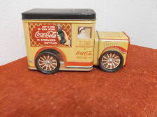 "VINTAGE ""COCA-COLA COMPANY DELIVERY TRUCK"" ADVERTISING EMPTY  METAL TIN"