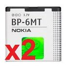 2 NEW BP-6MT OEM BATTERY'S FOR NOKIA 6350 6750 E51 N81 N82 USA SELLER