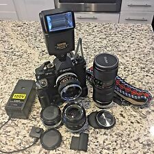 Canon F-1 + Rare Ni-Cd Pack FN + Motor Drive 50mm f1.4 28mm f2.8 Flash Zoom F1