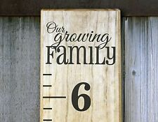DIY Vinyl Growth Chart Ruler Decal Kit - Large # style, Our Growing Family