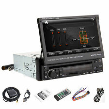 "7""LCD Single Din In Dash Car Bluetooth iPod CD DVD Player Radio Touch  Stereo UK"