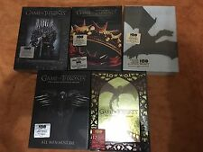 Game of Thrones : Complete Seasons 1-5 ( DVD, 2016, 25-Disc Set) 1 2 3 4 5 DVDs
