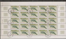 Ivory Coast - Mini Sheet of 25 Stamps with Imprint used. Manati - Seekuh gest.
