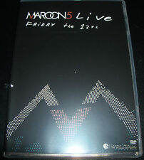 Maroon 5 Friday The 13th Live CD DVD - Like New