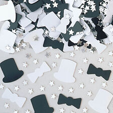 Top Hats Bow Ties Black White Wedding Party Confetti Table Sprinkles